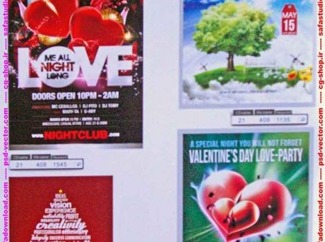 بیش از 670 سورس فایل لایه باز پی اس دی ، سورس طرح لایه باز پی اس دی ، سورس پروژه لایه باز پی اس دی و طرح آماده لایه باز پی اس دی فتوشاپ (PSD) مربوط به پوستر ، بروشور و کاتالوگ تبلیغاتی